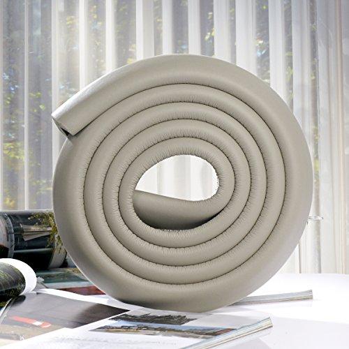 LEORX Tabelle Guard Stoßstange Strip Baby Kantenschutz - weiche ungiftig - 2M (grau) (Wand-storage-einheiten)