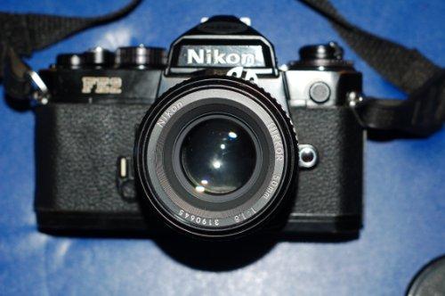 Nikon FE2 Kamera mit Nikkor 50m 1: 1,8-Objektiv - Nikon Mit Slr-kamera Objektiven