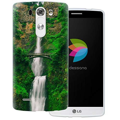 dessana Wasserfälle Transparente Silikon TPU Schutzhülle 0,7mm dünne Handy Tasche Soft Case für LG G3 Oregon USA Multnomah Falls (G3 Lg Fall Wasser)