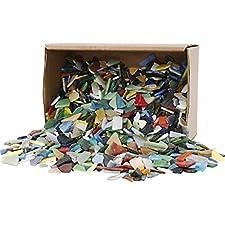 Polierte Bruchstücke aus Glas mit glatten, abgerundeten Kanten    Viele verschiedene Farben und Formen