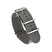 TRUMiRR 18mm Ballistic Nylon Watch Bands NATO Strap with Stainless Steel Buckle