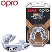 OPRO Protector bucal UFC niños para MMA, Boxeo, BJJ, Karate y Otros Deportes de Combate - 18 Meses de garantía Dental … (Blanco, Nivel de Protección: Bronce)