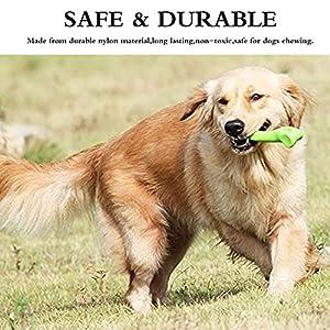 Chien Jouets à mâcher en forme d'os, bacon de dressage de chien aromatisé OS en nylon, Safe durable pour animal domestique jouet pour chiens formation/lecture/Chewing par Hongyh