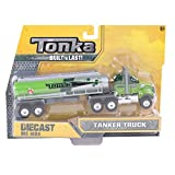 Enlarge toy image: Tonka 06414 Die Cast Flatbed Tanker Truck