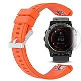 Garmin Fenix 5X Band con protector de pantalla, TUSITA Brazalete de pulsera de silicona para Garmin...