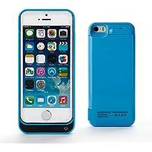 ZOGIN Funda Protectora Cargador con Batería 4200mAh Funda de Batería Externa para iPhone 5 / 5C / 5S, Color Azul