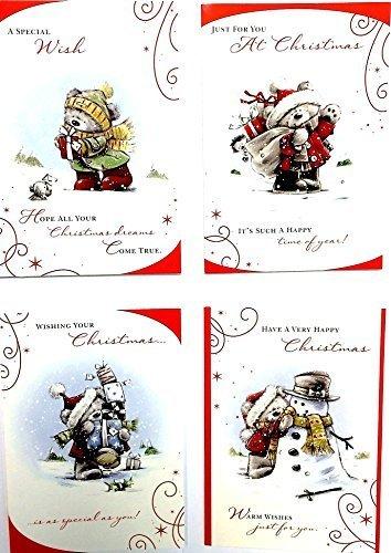 box-of-30-cute-teddy-weihnachten-grusskarte-4-verschiedene-designs-von-hallmark