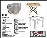 Raffles Covers RT95 Schutzhülle für quadratischen Tisch 95 x 95 cm Schutzhülle für rechteckigen Gartentisch, Abdeckhaube für Gartentisch, Gartenmöbel Abdeckung