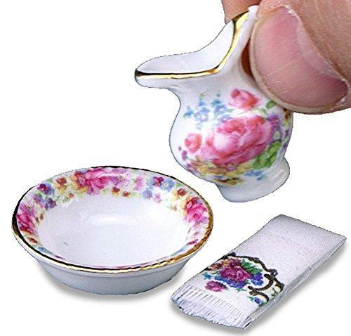 Preisvergleich Produktbild Dolls House Minaiture Reutter Porcelain Bedroom Accessory Wash Jug and Bowl by Reutter Porcelain