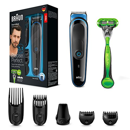Braun Multigrooming-Set MGK3040, Bartschneider, Trimmer, Bodygroomer, mit Gillette Body