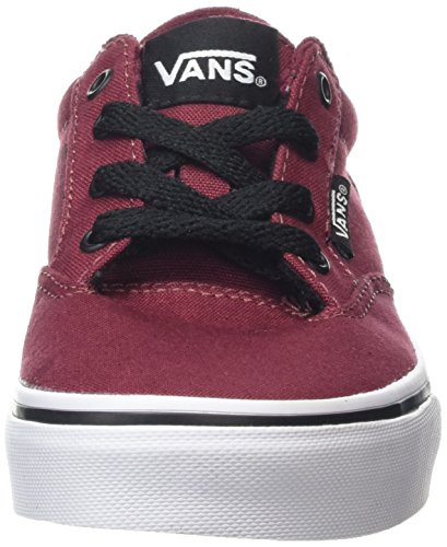 Vans Winston, Baskets Basses Mixte Enfant Rouge (Canvas Oxblood red/Black)