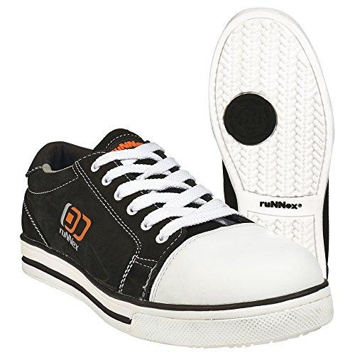 """Scarpe di sicurezza ruNNex S3""""5340Sport Star scarpe basse effetto Chucks, Nero, Nero, 5340"""