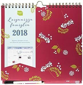 Calendario L'Organizza Famiglia settimanale 2017-2018 Boxclever Press. Calendario con vista settimanale con sei colonne. Inizia da metà Agosto 2017 e dura fino a Dicembre 2018.