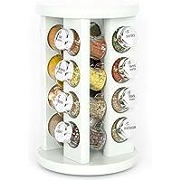 Kitchenrax 16-spice Revolving Carousel Spice Herb rack in Duck Egg