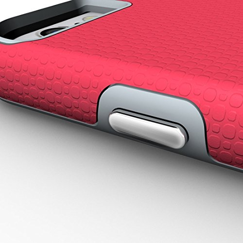 BING Für iPhone 6 / 6s, Ball Texture Anti-Rutsch-PC + TPU schützende rückseitige Abdeckungs-Fall BING ( Color : Black ) Magenta
