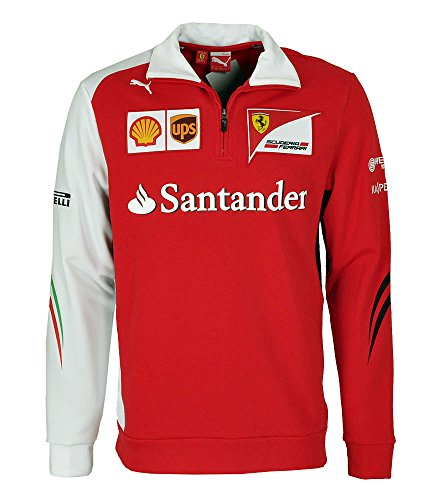 PUMA Scuderia Ferrari SF Team Half Zip Fleece Sweatshirt 761464-01 Fleece Half Zip Sweatshirt