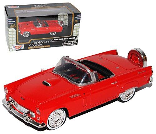 Motormax Ford Thunderbird Cabrio Rot 1. Generation 1955-1957 1/43 Modell Auto