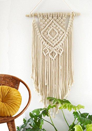 Makramee Wall Wandbehang Decor Boho Chic handgemachte Baumwolle gewebt Bohemian Home Dekoration (Gewebte Textur)