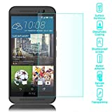NALIA Schutzglas kompatibel mit HTC One M9, Full-Cover Bildschirmschutz Handy-Folie, 9H Härte Glas-Schutzfolie Display-Abdeckung, Schutz-Film Phone HD Screen Protector Tempered Glass - Transparent