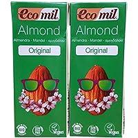 Ecomil Organic Mini Tetra Almond Drink 200 ml (Pack of 8)