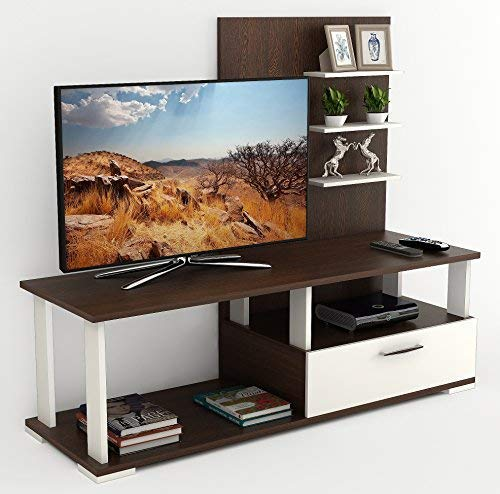 Bluewud Novah TV Entertainment Unit Stand (Wenge & White)