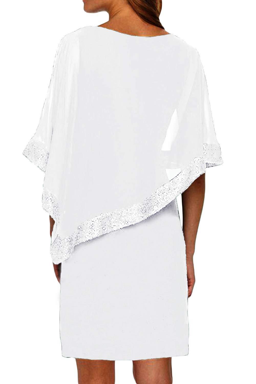 82f8f1757318 Vestiti Donna Ragazza Invernali di Moda in Pizzo Giuntura Chiffon ...