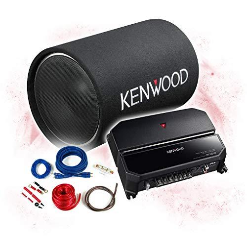 KENWOOD Basspaket 2-Kanal Endstufe/Verstärker+30cm Subwoofer+Kabel-Set - 1200W / KSC-W1200T - KAC-PS702EX + REN10KIT