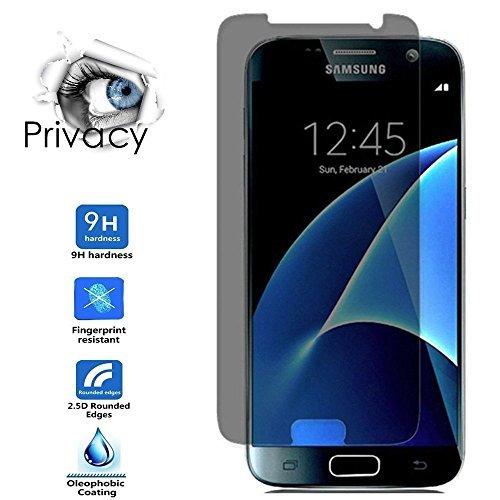 Galaxy S7Sichtschutz Privacy Displayschutzfolie, smarmate Antispionage gehärtetem Glas Displayschutzfolie für Samsung Galaxy S7, Sichtbarer Bereich von 90Grad Schützen Ihr Privatsphäre - Überfüllten Bus
