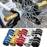 Pedal de eje de bicicleta BMX Mountain Bike, clavijas de bicicleta de aleación de aluminio, estribo de reposapiés de bicicleta, clavijas de aleación de aluminio carretera de montaña, negro