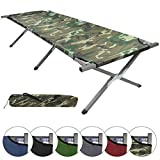 BB Sport Cama de Camping Plegable XXL 200 x 70 x 52 cm, Color:Military
