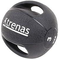 TRENAS Professioneller Medizinball mit Handgriffen PRO - 3 kg - 4 kg - 5 kg - 6 kg - 7 kg - 8 kg - 9 kg - 10 kg