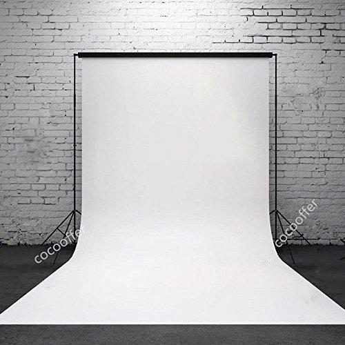 Fotohintergrund aus Stoff, Chroma-Key-Hintergrund für Fotostudio-Aufnahmen, für Video-Beleuchtung, 1,6 x 3 m, Weiß / Grün / Schwarz