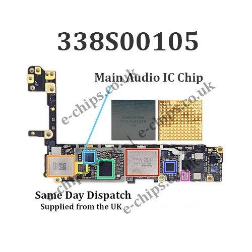 338S00105 – iPhone 6S / 6S + / 7/7 + Plus Haupt-Audio-IC – kein Ton/keine Audiofehler – 1/2 oder 5 Stück, 1