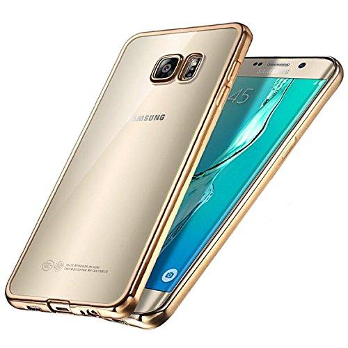 Coque Galaxy S6 Edge, Transparent Clair Gel Silicone [Ultra Slim] + [Anti-Rayures] + [Anti-Choc] Bumper en TPU Souple Coque Clair Étui Housse pour Samsung Galaxy S6 Edge SM-G925F