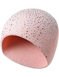 3d4be63e5b524 Strickmütze, Frauen Männer Warm Crochet Winter Wolle stricken Ski Beanie  Skull Slouchy Caps Hut,