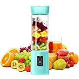 Personal/Single/Serve/Blender, 500ml Electric/Rechargeable/Mixer/Cup/for/Sport, Travel/Home,blue