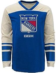 "New York Rangers CCM NHL ""Better Days"" Youth Jeunes Long Sleeve Crew Shirt Chemise"