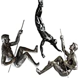 Da Jia INC einzigartigen Harz Made Klettern Mann Art Wand Home Decor Skulptur 3 Teile