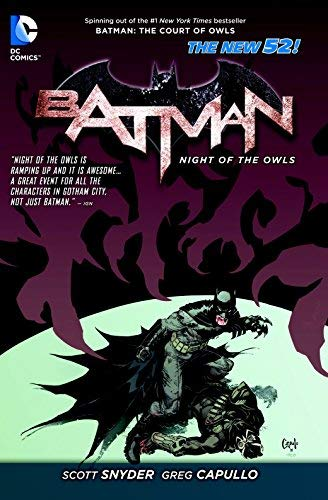 Batman Night of the Owls TP (The New 52) (Batman (DC Comics)) by Various (Artist), Scott Snyder (19-Nov-2013) Paperback