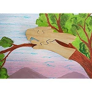 Hölzernes Puzzle-Papagei geformtes Pädagogisches DIY Woodcraft Spielzeug-Gehirn-Teaser-Spiel für Kleinkind Scherzt…
