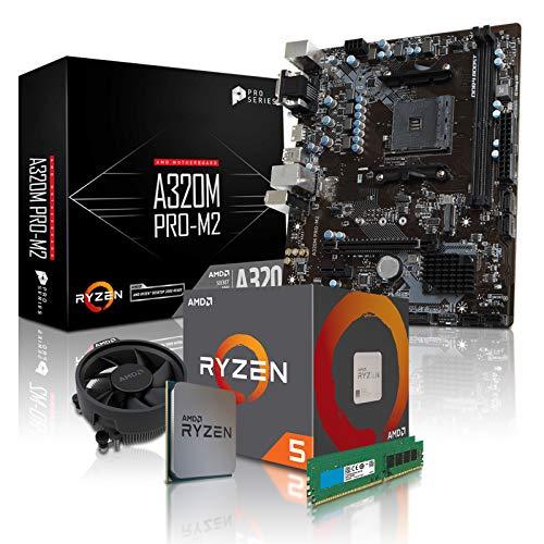 dercomputerladen PC Aufrüstkit AMD 5-2600 6x3 4 GHz - 16GB DDR4, ohne  onBoard Grafik, eigenständige Grafikkarte notwendig, Mainboard Bundle,  Tuning