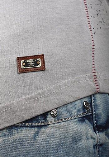 Cipo & Baxx Herren T-Shirt Print Eyecatcher CT320 Grau