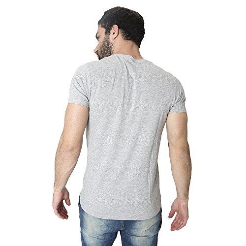 T-Shirt Männer Shirt in Baumwolle Sommer Casual Smiling London Grau