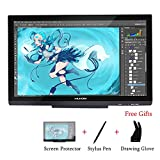 Huion GT-220 V2 Tavoletta Grafica da Disegno Nera a 8192 Pressioni Monitor da 21.5 Pollici 1920 x 1080 HD IPS Display a Penna per Windows e Mac Argento