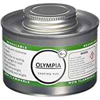 Olympia CB735 Chafing líquido combustible, 6 horas, plata (Pack de 12)