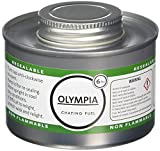 Olympia CB735Chafing líquido combustible, 6horas, plata (Pack de 12)