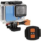 Rollei Actioncam 420  Caméscope WiFi de 12 Mégapixels - Resolution Vidéo 4K/2K et Full HD - Imperméable à 40 m Bleu