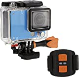 Rollei Actioncam 420 - WiFi Action Camera, Risoluzione 4K e 2K, Full HD, Azzurro