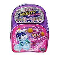 """Paw Patrol - Mighty Pups 16"""" Deluxe Full Size Backpack - Super Hero Puppies - A19000"""