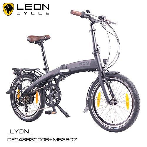 NCM Lyon - Bicicleta eléctrica, 20pulgadas 50 cm, plegable, E-Bike, Pedelec, 36V, 250W, Motor...